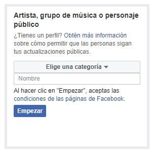 personaje público en facebook