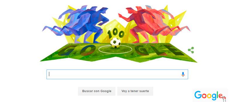 Google nos avisa con un Doodle del comienzo de la Copa América 2016