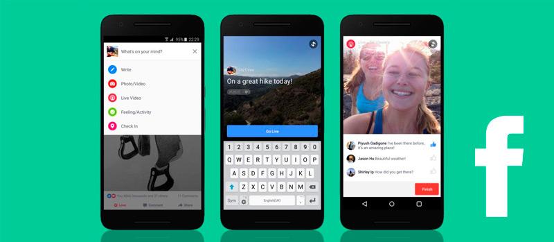 Cómo se hacen los vídeos en directo de Facebook