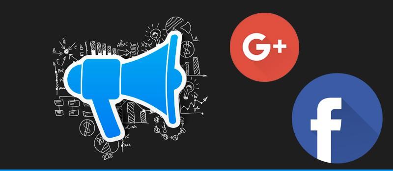 compartir en facebook y google plus