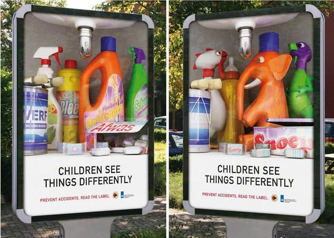cómo ven los niños los productos de limpieza